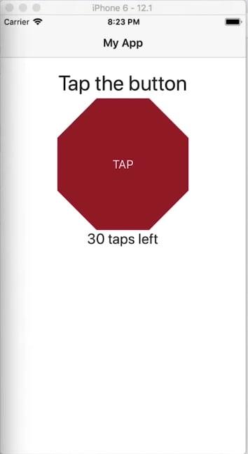 Octagon button