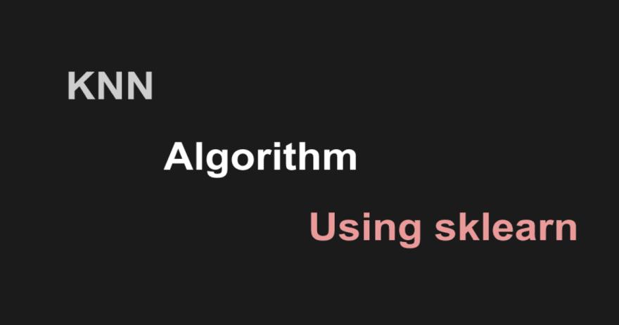 KNN algorithm python