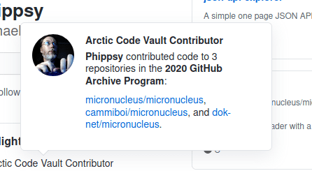 Phippsy: Arctic Code Vault Contributor
