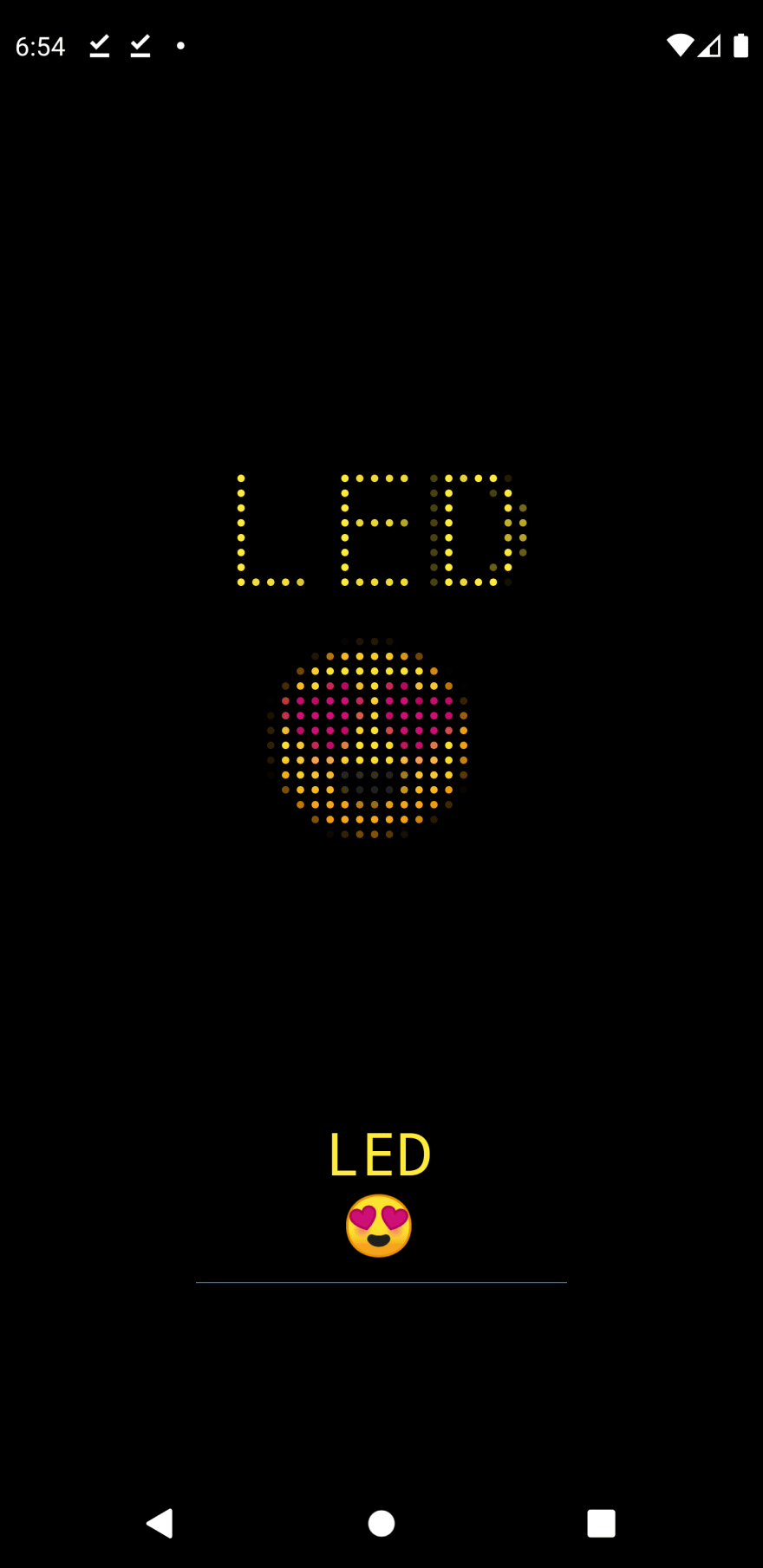 Flutter LED display with text input