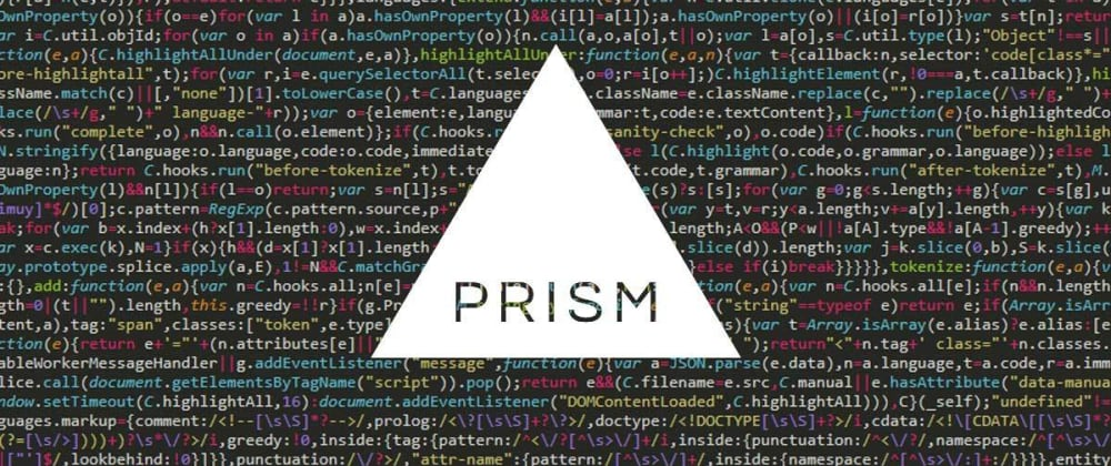Cover image for How to show code in a page; Prism code highlighter