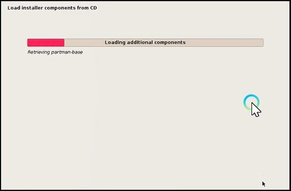 load installer components from cd