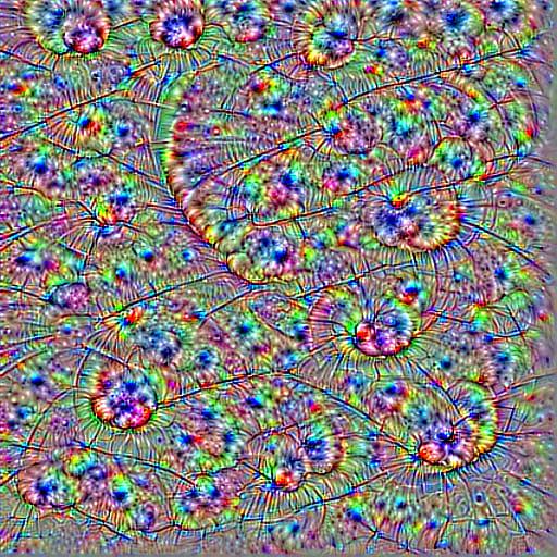 Filter Vsualization convolutional neural network looks like spiral