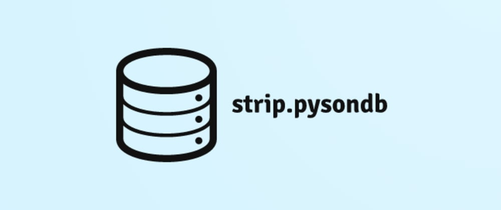 Cover image for strip.pysondb a new JSON DB for python
