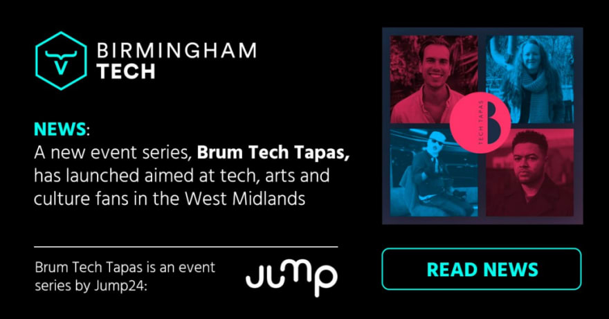 Image created by Birmingham Tech to promote Brum Tech Tapas