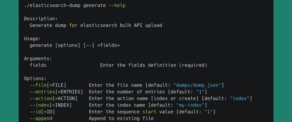Cover image for Elasticsearch Sample Data Generator