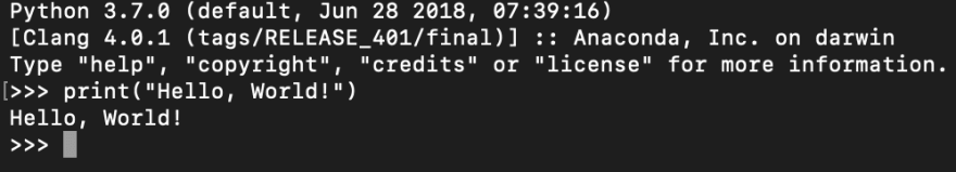 Hello World in Python