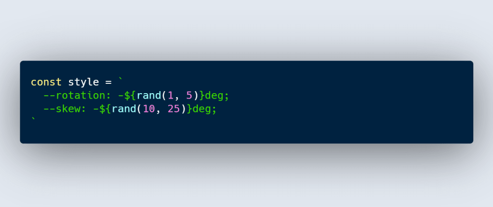 Cover image for Random Transforms Using CSS Variables
