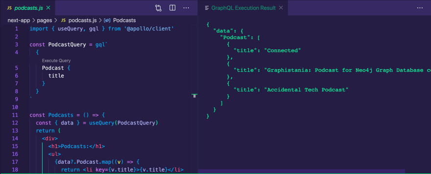 GraphQL VS Code Extension