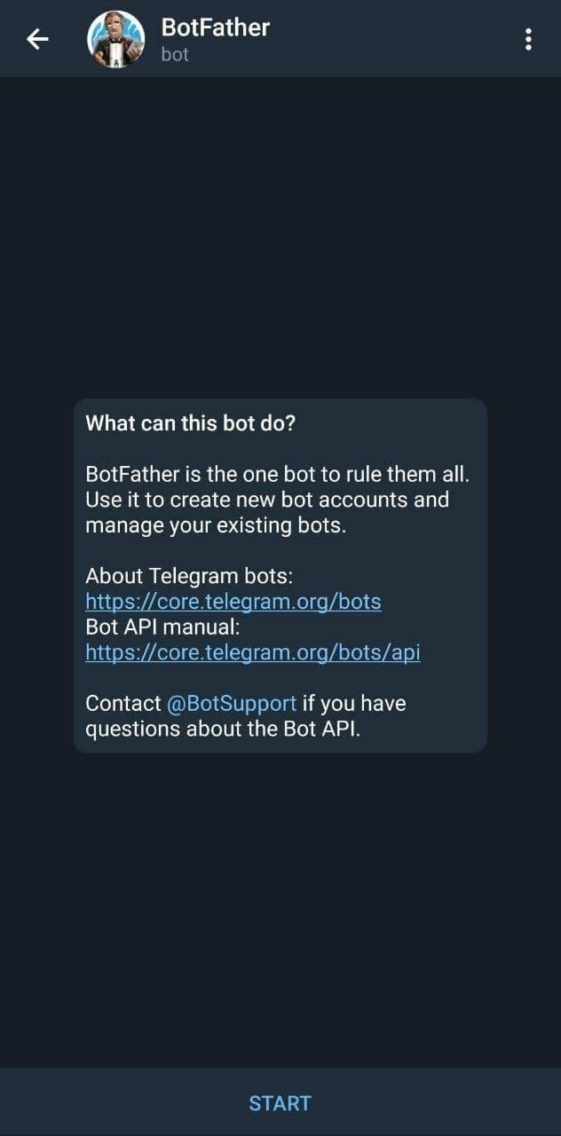 bot father start