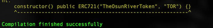 Hardhat Compile Task Success Message