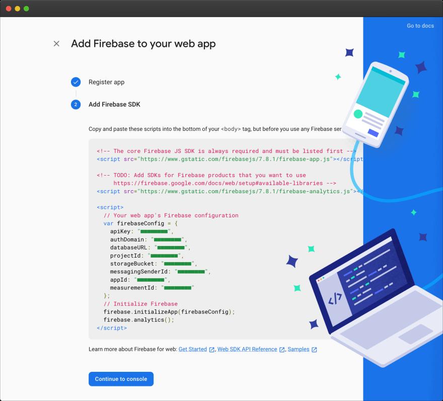 Firebase – new web app