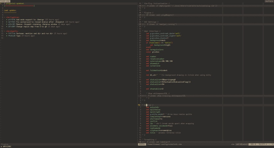 Screenshot of NeoVim