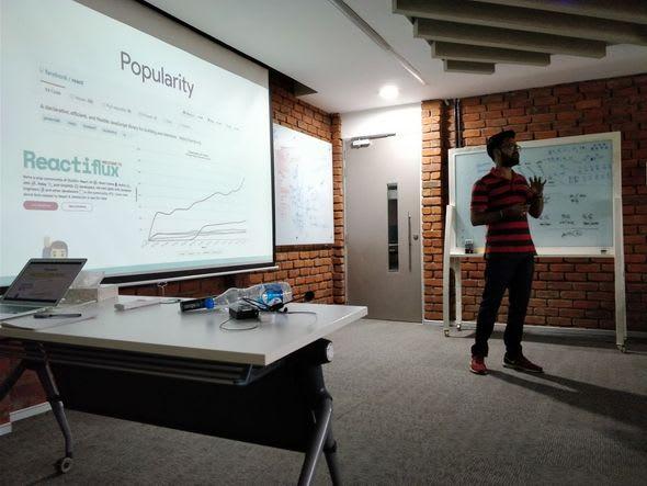 aravind balla talk seminar about react