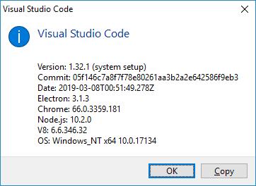 vscode version