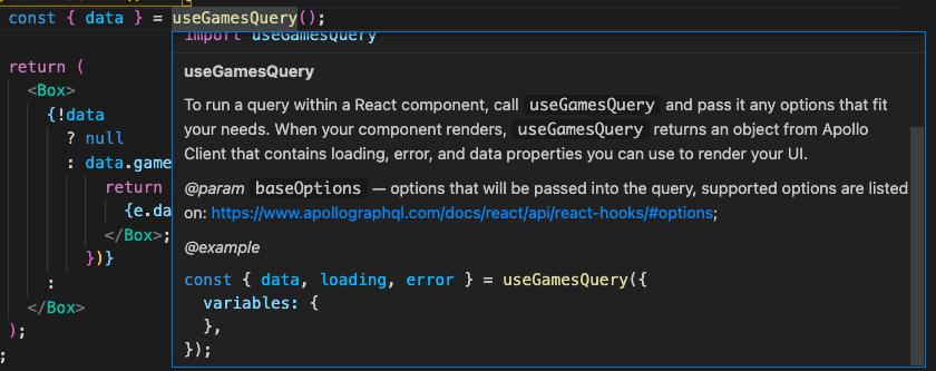 useGamesQuery details