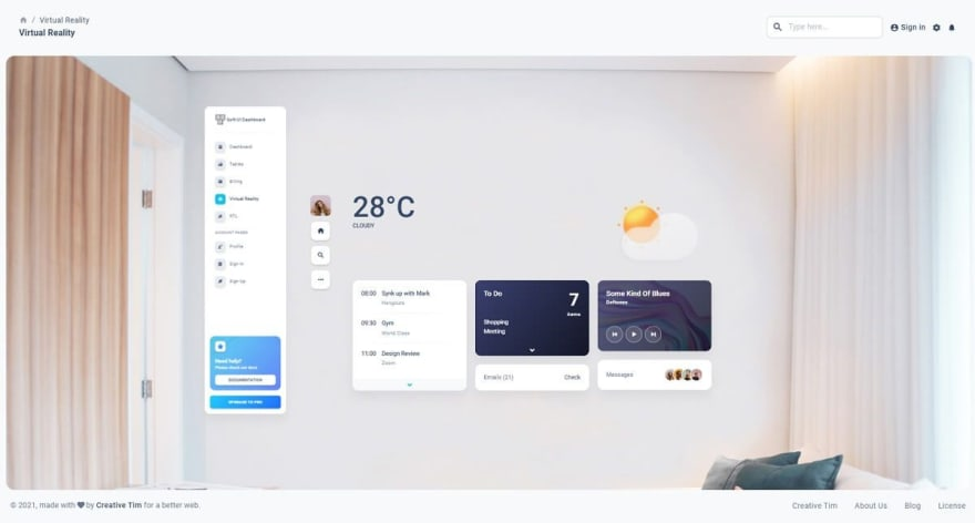 Soft Material UI - Open-source React Dashboard crafted by Creative-Tim on top of Material UI Library using Soft UI principels.
