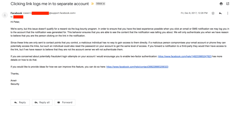 fb email