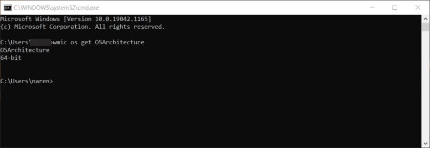 Found Windows Architecture.