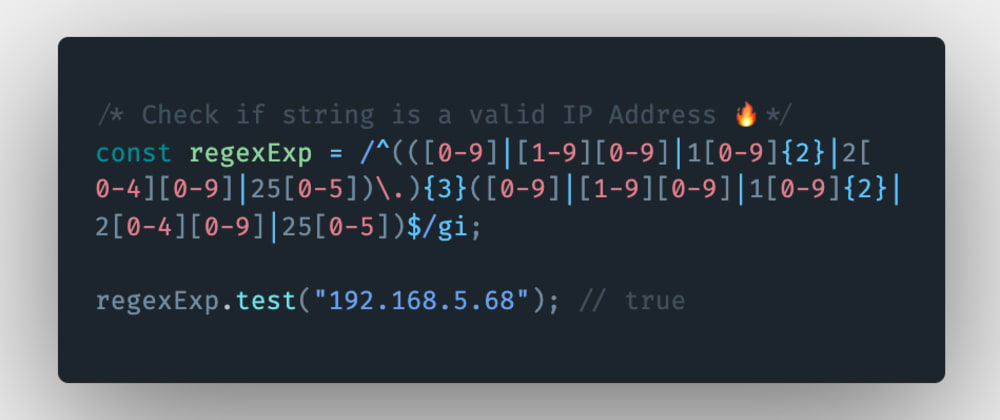 Cover image for How to check if a string is a valid IP address in JavaScript?