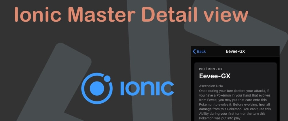 Cover image for Ionic Master Detail view