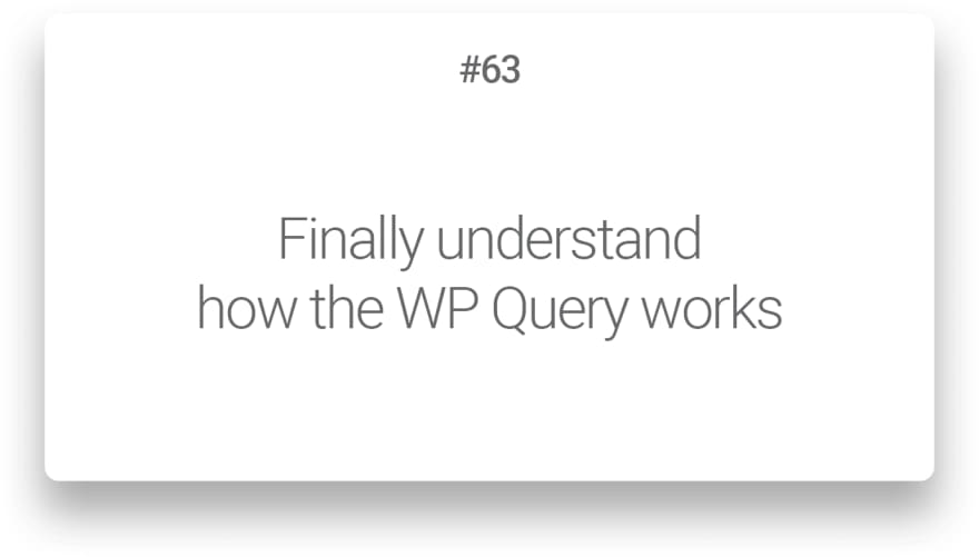 Finally understand how the WP Query works