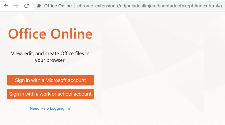 Chrome Office Online extension