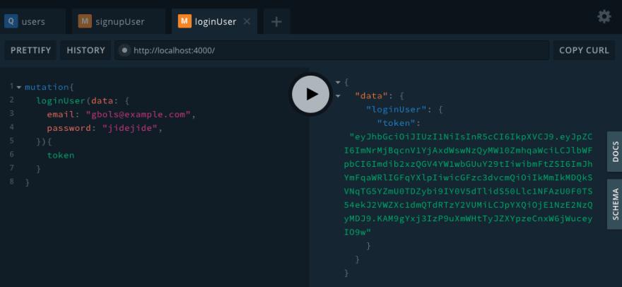 User log-in