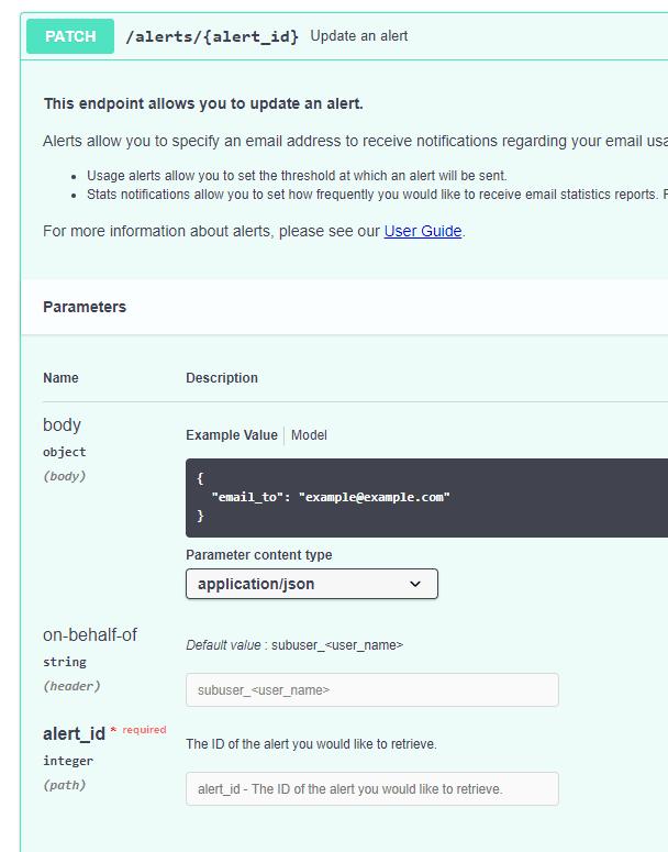 sendgrids input