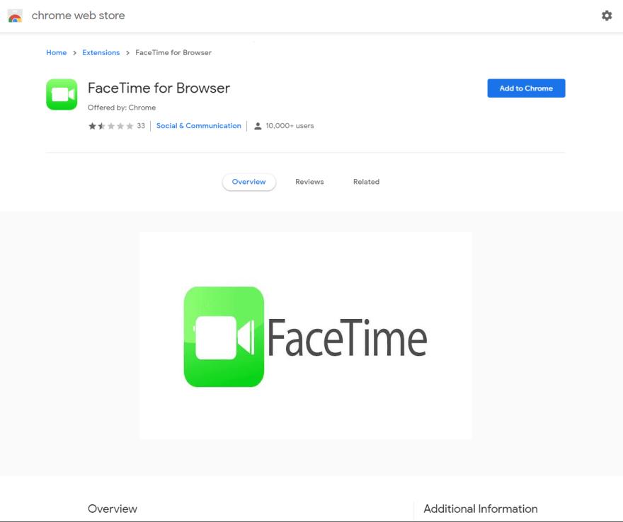 Fake Facetime Extension