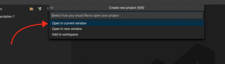 How to open a function project in Visual Studio Code