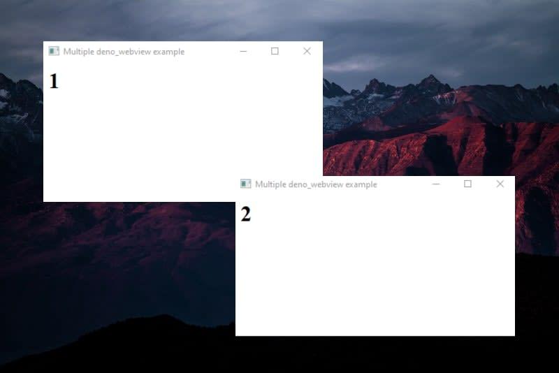 Deno desktop app