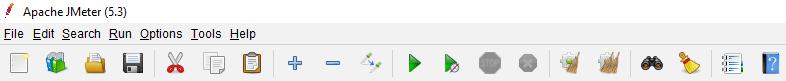 icon row in JMeter 5.3