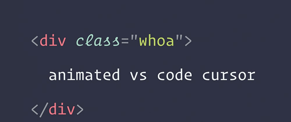 Cover image for Animating Your VS Code Cursor w/ Cursor Blinking