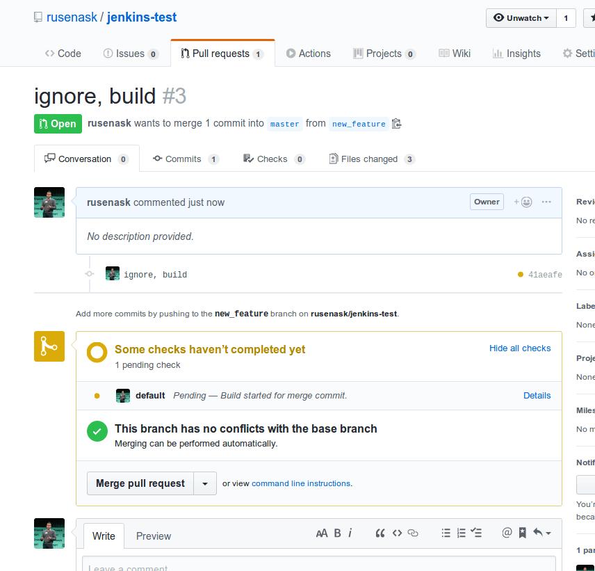 pr triggering build