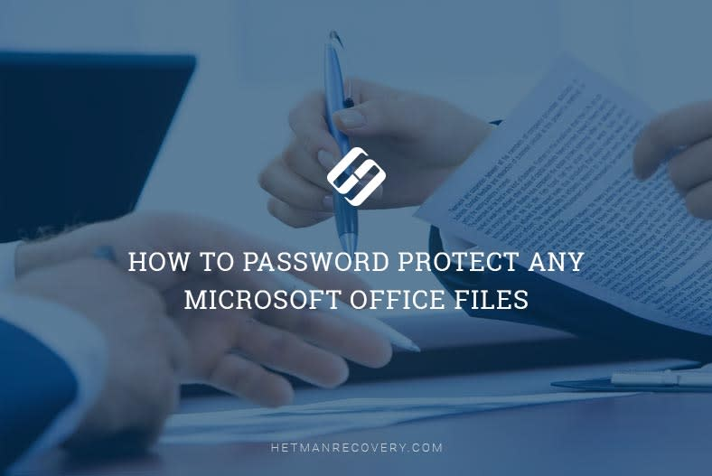 How to Password Protect an MS Word, Excel or PowerPoint file
