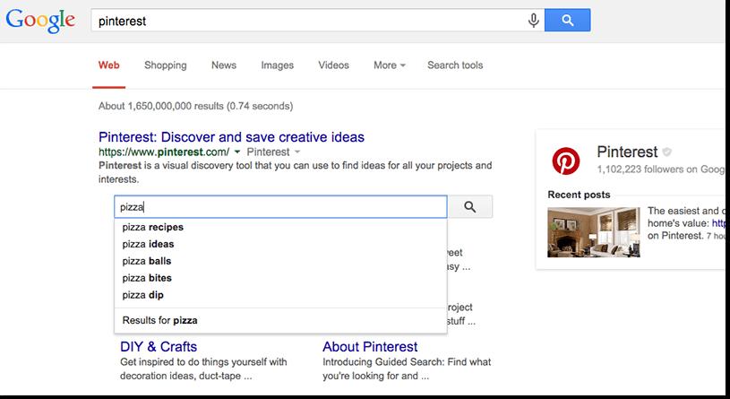 Uma imagem mostrando o search dentro do próprio Google