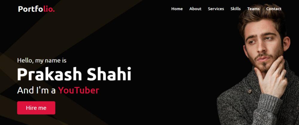Cover image for Responsive Personal Portfolio Website using HTML CSS & JavaScript