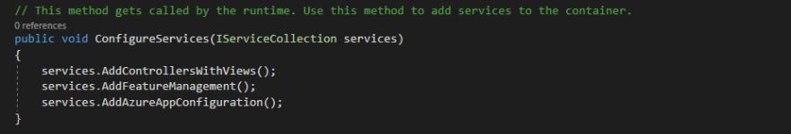 Add configuration middleware