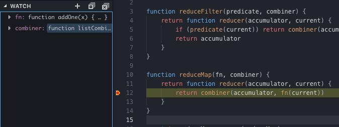 debugging reduceMap