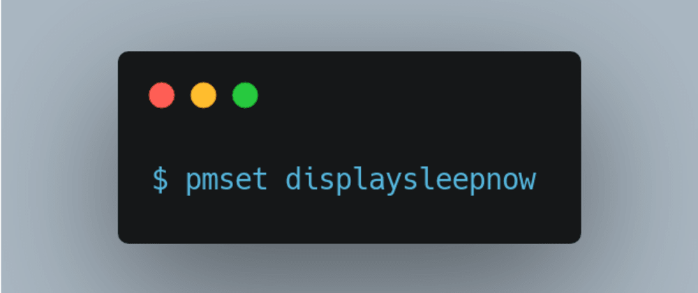 Cover image for Put your Macbook to sleep with this command