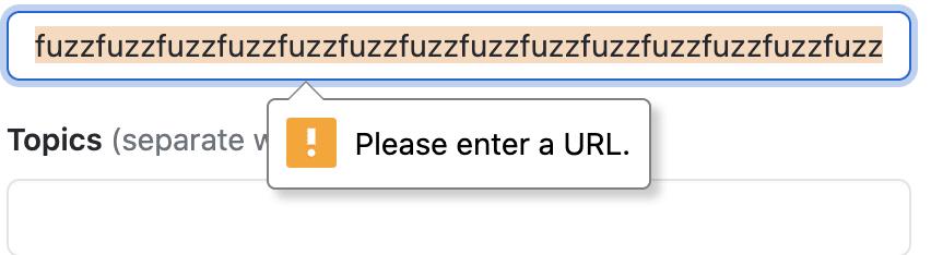 Validation Error from the UI
