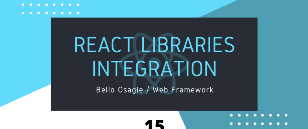 Cover image for React-Bootstrap Integration