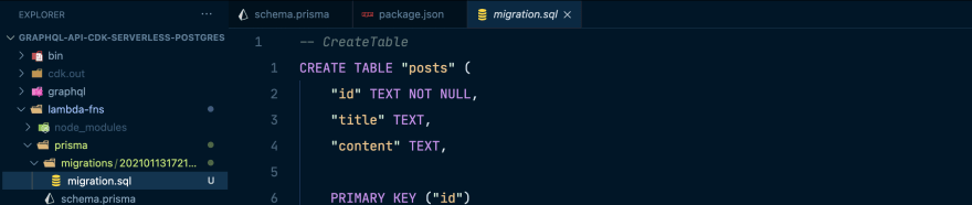 Migration file created