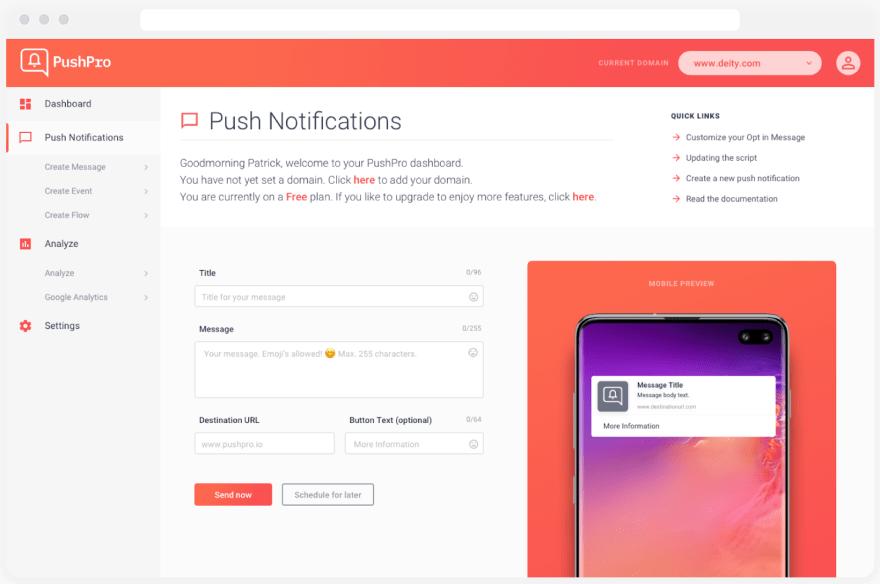 PushPro Dashboard