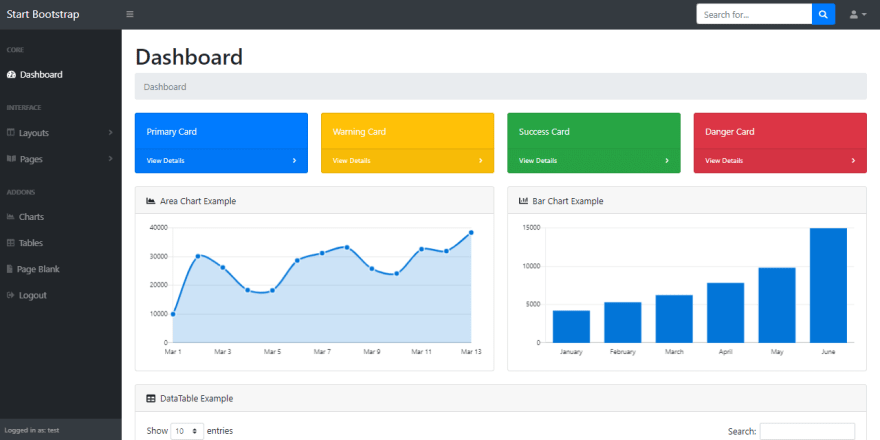 SB Admin - open-source Flask Dashboard with material design.