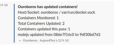 Ouroboros slack notification