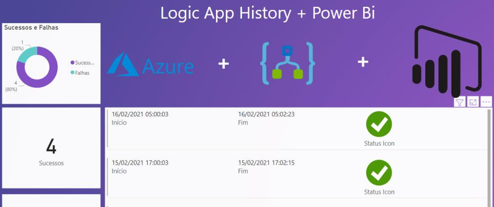 Cover image for Lendo Api's do azure com Power Bi - exemplo histórico logic apps