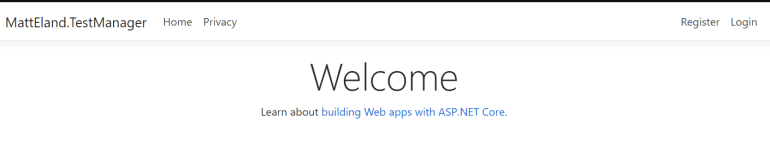 The ASP .NET Core 3.0 MVC web application up and running