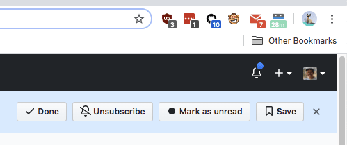 GitHub Notification Header